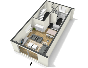 Create floor plans house plans and home plans online with Free room planner 3d