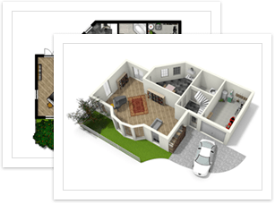 Create floor plans house plans and home plans online with for Easy house design app