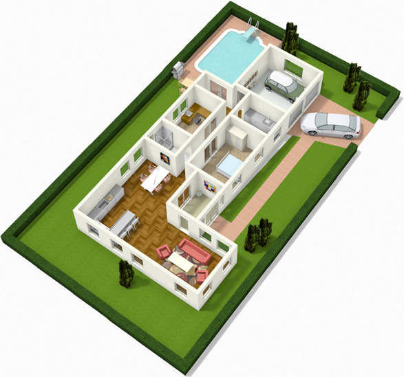 Create floor plans house plans and home plans online with for Creation plan